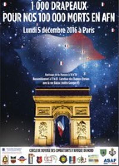 """RETOUR sur la cérémonie du 5 décembre """"1 000 drapeaux pour 100 000 morts"""" ..."""