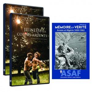 """Film """"Jeunesse aux cœurs ardents"""" de Cheyenne CARRON - Offre : 2 DVD + hors-série """"Armée et Algérie 1830-1962"""""""