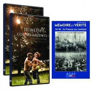 """Film """"Jeunesse aux cœurs ardents"""" de Cheyenne CARRON - Offre : 2 DVD + hors série """"14-18 La France au combat"""""""