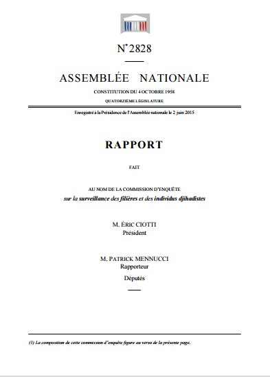 Assemblee nationale rapport daesh
