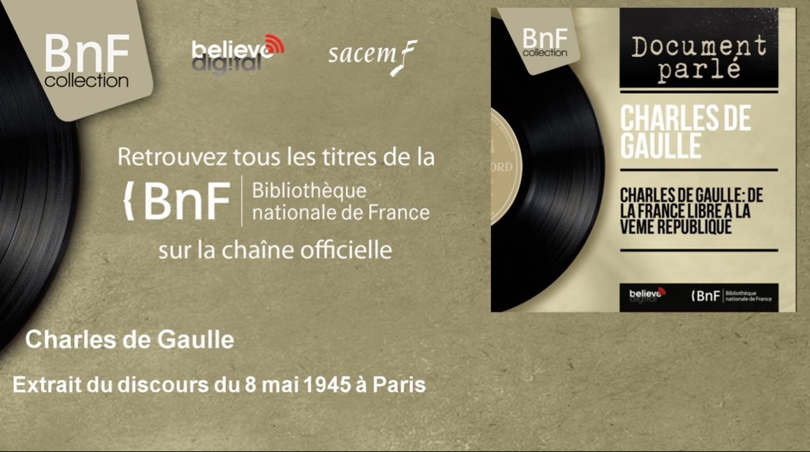 bnf collection discours de gaulle 8mai45