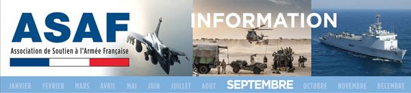ASAF - Lettre d'information septembre 2016: Ambitions nationales et capacités militaires Bandeau_Septembre